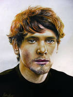 Drawing of Jack O'Connell by PrithviArts