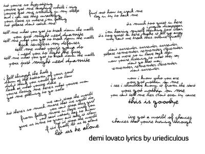 Demi Lovato Azlyrics on Demi Lovato Lyrics By  Uriediculous On Deviantart