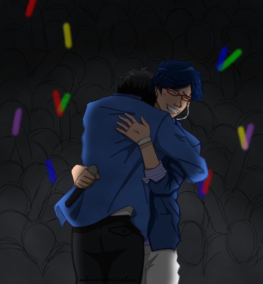 ReiHaru hug by Fayolinn