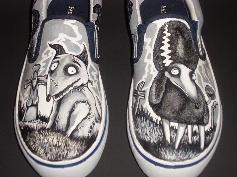 Tim Burton Converse Shoes