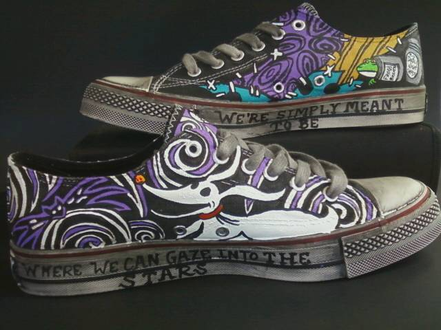 Nightmare Before Christmas Shoes Diy.Nightmare Before Christmas Jack And Sally Shoes By