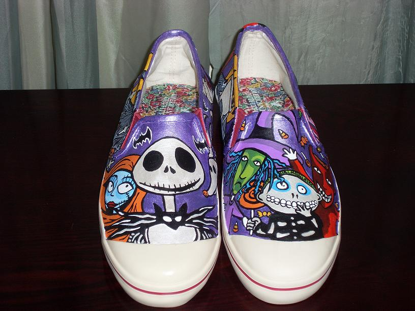 Nightmare Before Christmas Shoes Diy.The Nightmare Before Christmas Jack Sally Shoes By