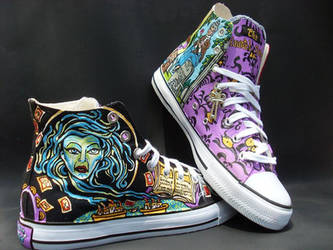 Custom Handpainted Disney's  Haunted Mansion Shoes by rachelliles352