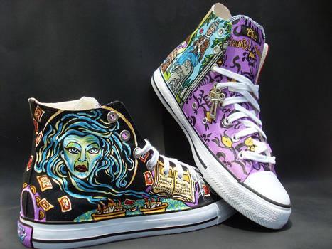 Custom Handpainted Disney's  Haunted Mansion Shoes