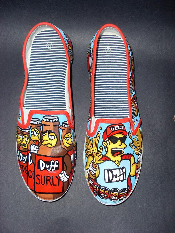 The Simpsons Duffman 7 Duffs Shoes by rachelliles352