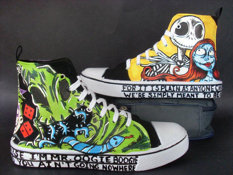 Custom Nightmare Before Christmas Shoes Jack Sally by ...