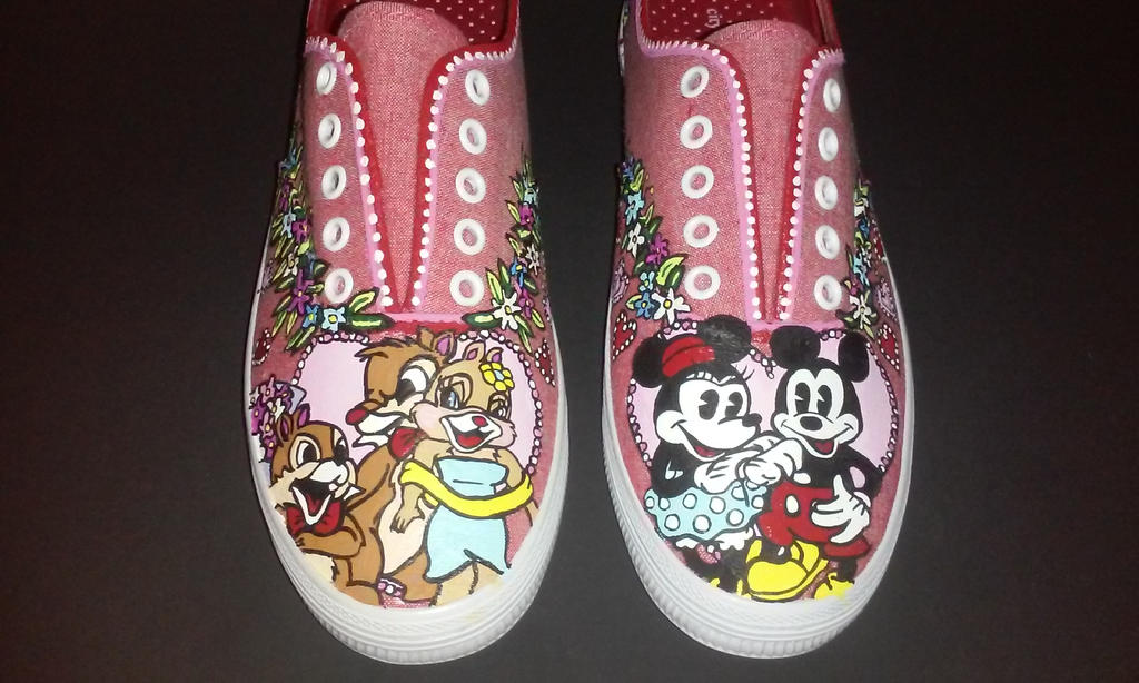 Disney custom Love shoes Mickey mouse by rachelliles352