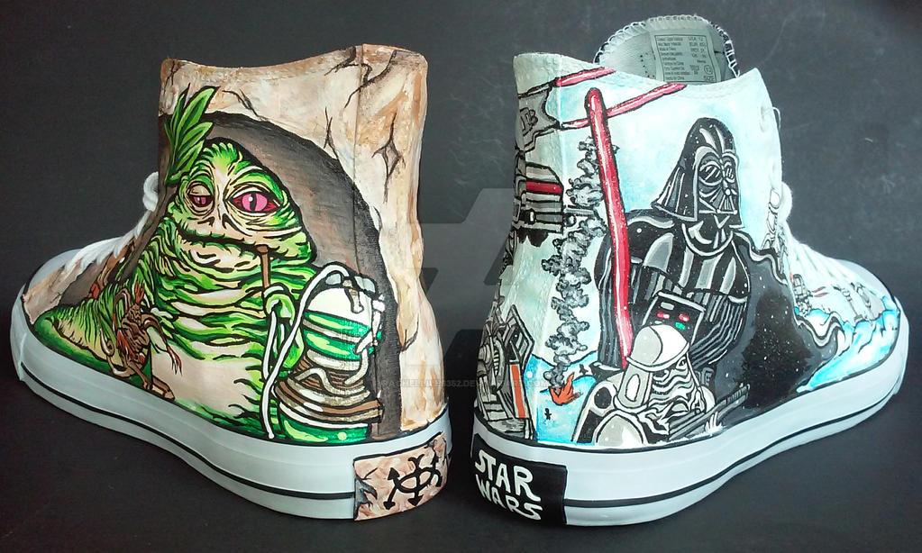 Custom Star Wars Jabba's Palace Hoth Battle Shoes by rachelliles352
