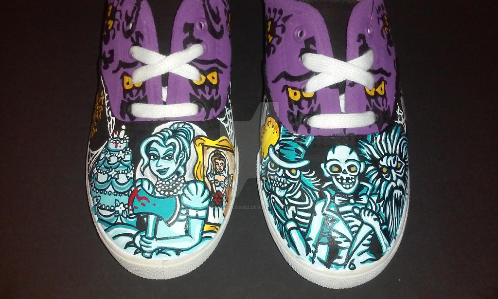 Handpainted Disney Haunted Mansion Shoes by rachelliles352