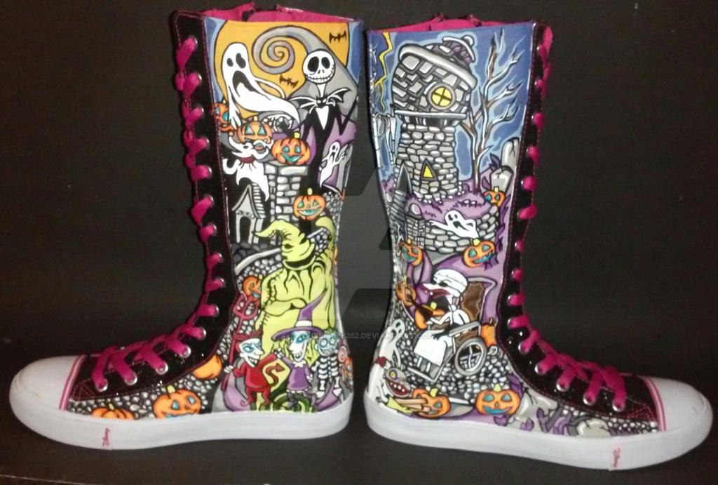 Nightmare Before Christmas Knee High Shoes by rachelliles352 on ...