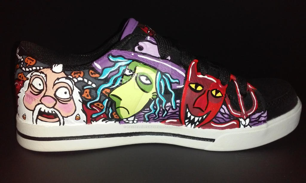 Nightmare Before Christmas shoes Oogie Boogie by rachelliles352