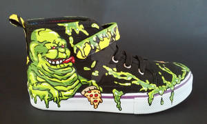 Custom Ghostbusters Shoes Slimer Stay Puft