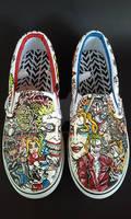 Custom Suicide Squad Shoes Joker Harley Quinn