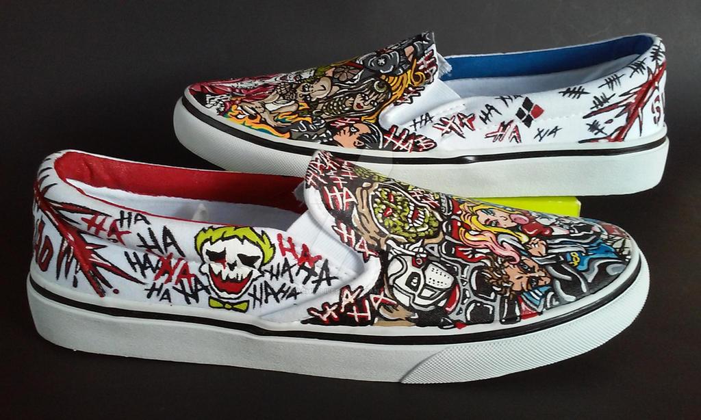 0e8b4b5c9008 Custom Suicide Squad Shoes Joker Harley Quinn by rachelliles352 on ...