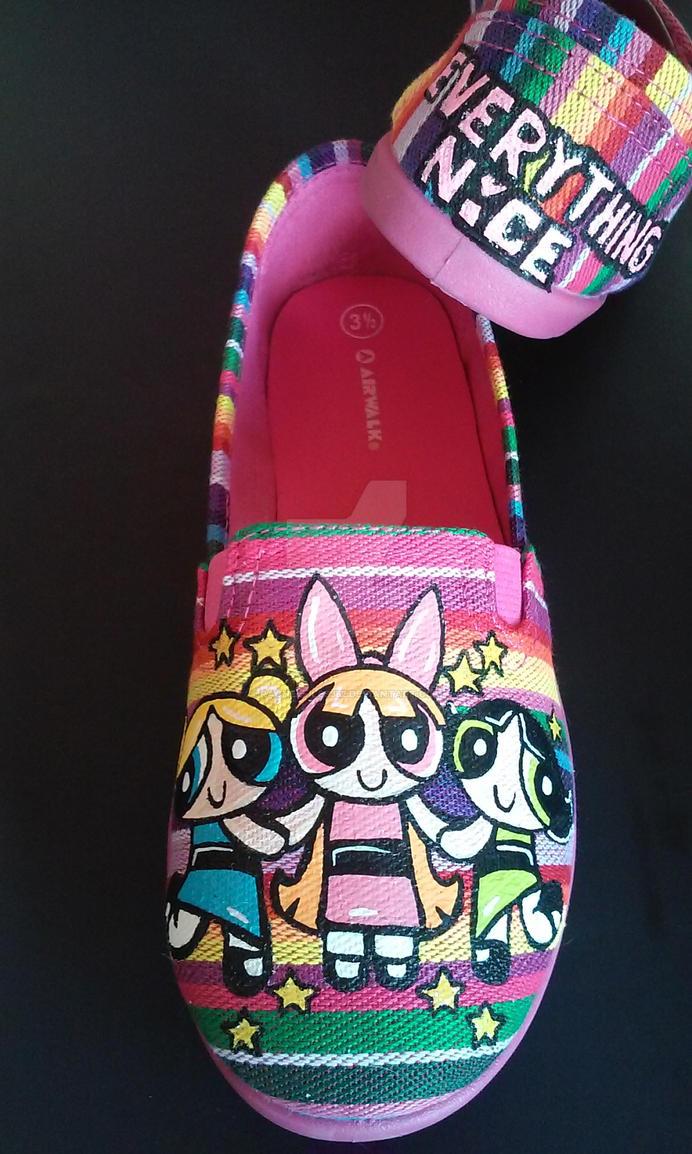 Custom Powerpuff Girls Shoes Blossom Bubbles Butte by rachelliles352