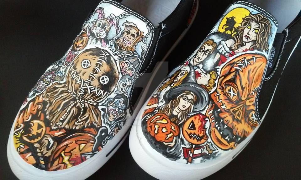 Trick 'R Treat Sam Halloween Handpainted Shoes by rachelliles352