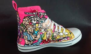 Custom Rick and Morty Handpainted Shoes