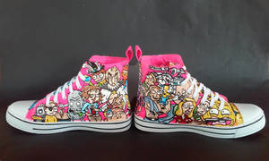 Custom Handpainted Rick and Morty Shoes