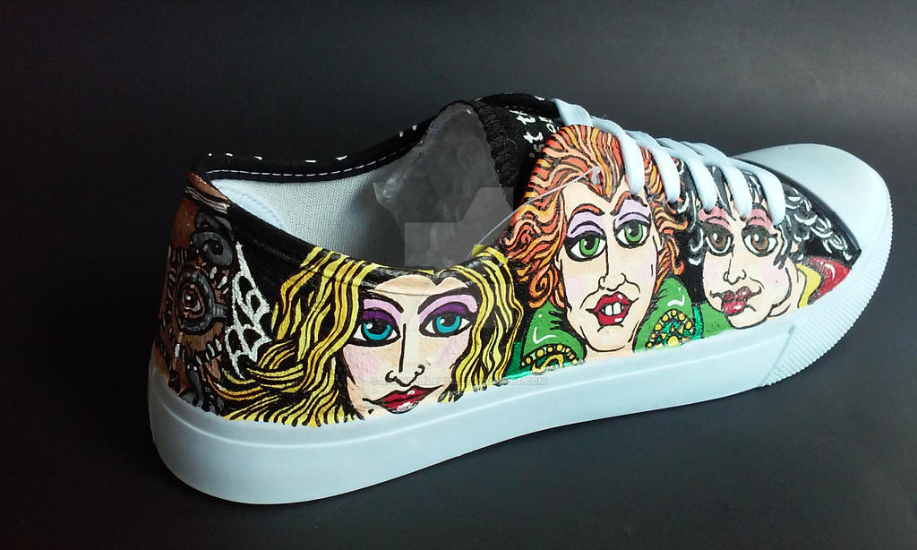 Custom Handpainted Hocus Pocus Shoes by rachelliles352