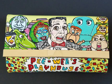 Pee-wee's Playhouse Hand Painted Purse