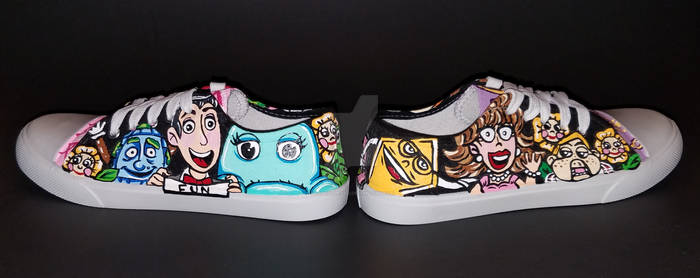 Pee-wee's Playhouse Hand Painted Shoes