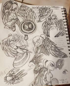 My Hero Academia OC Random Sketches