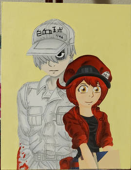 Cells at Work Painting