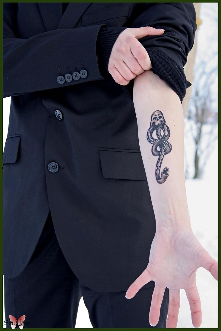 Draco Malfoy Dark Mark Tattoo by Blashina