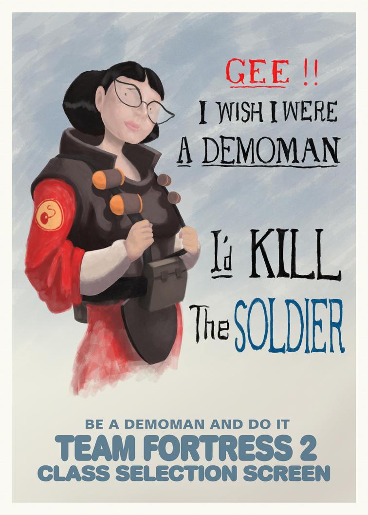 Gee I Wish I Were A Demoman by Tadbot