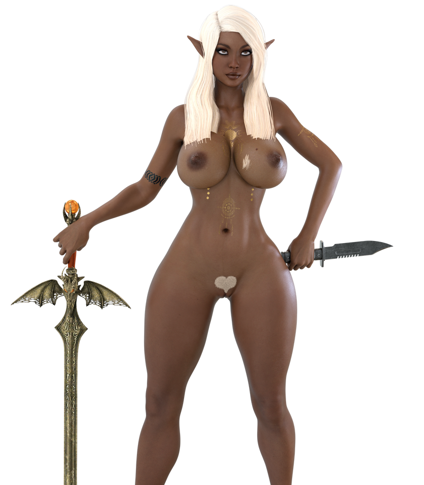 STOCK Blasian Elf Housewife by ambient-avalancher