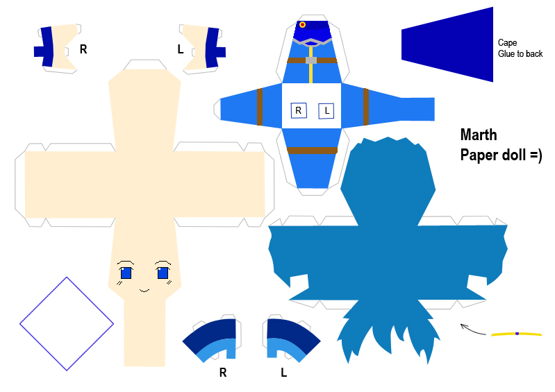 Marth Paper Doll Template by haos-shaman-queen