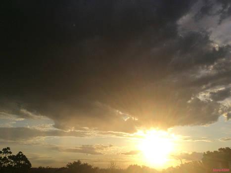 Darkened Clouds Bright Sun