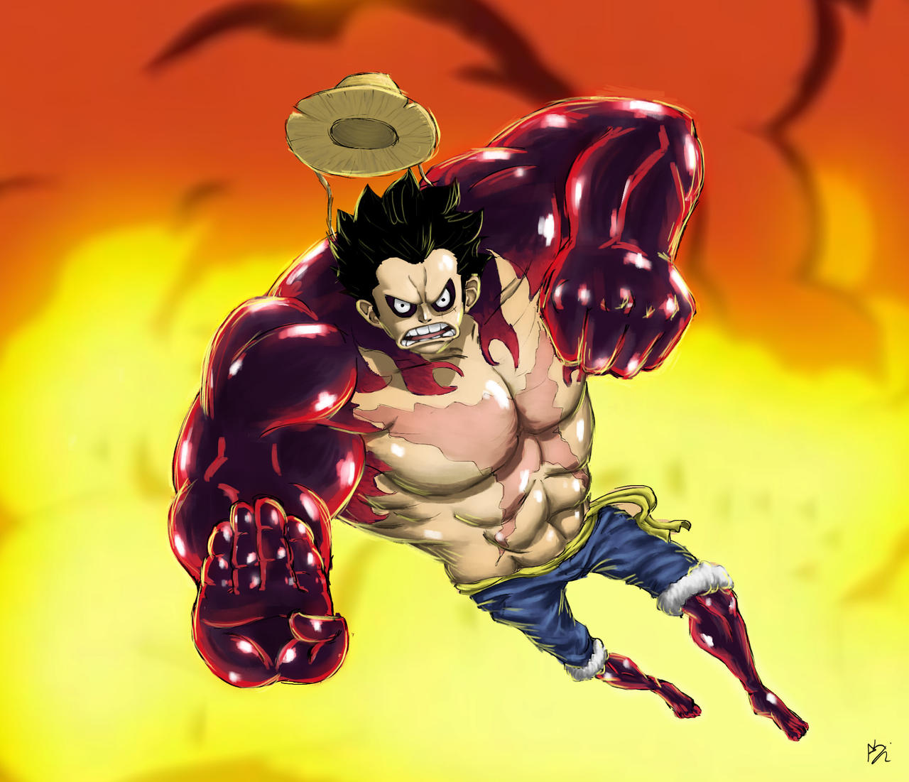 One Piece Fanart Gear 4! By DimitrisKart On DeviantArt
