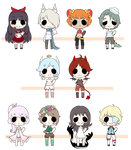 Little Adopts Batch #2 : OPEN! 1 LEFT by Flarbu-Adopts
