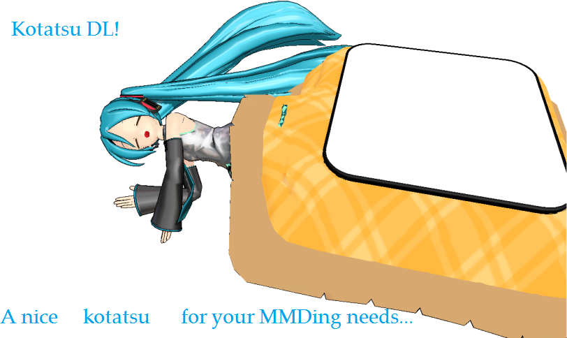 MMD Kotatsu DL by scarletrose101