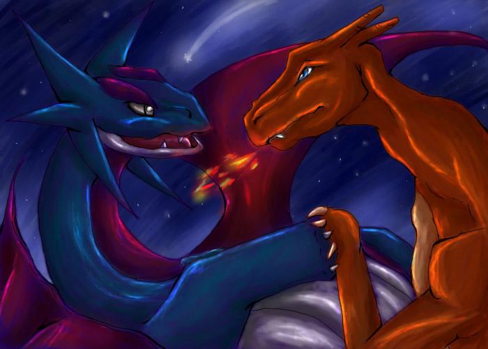 Salamence vs Charizard by Feanaro07 on DeviantArt