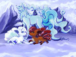 Vulpix and his family