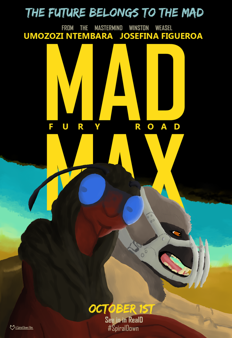 Mad Max: Fury Road (SDF Parody Poster) by Evelyn-Cross