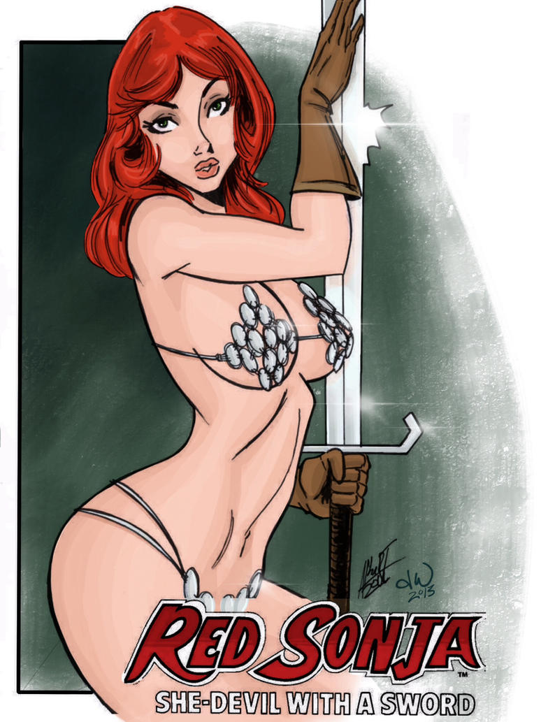 Red Sonja colored by mitchatt