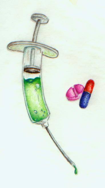syringe and pills by dunezx on deviantart. Black Bedroom Furniture Sets. Home Design Ideas