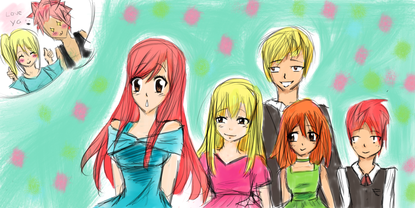 Fairy Tail Heartfilia Dragneel Kids by Hweum on DeviantArt