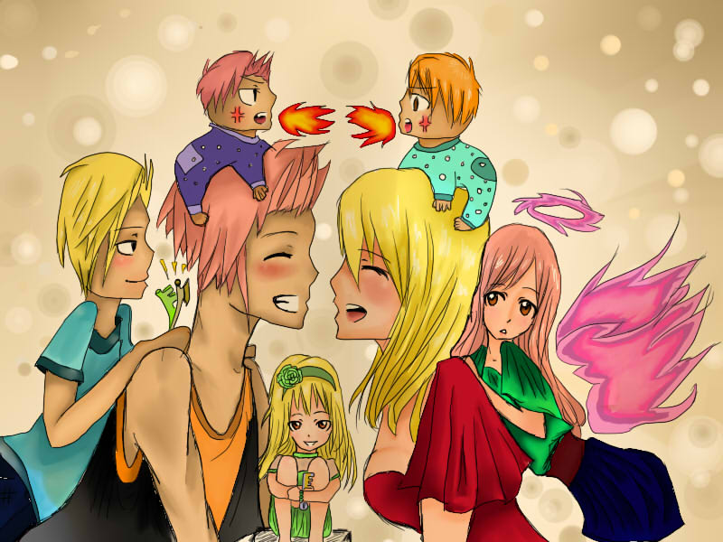 Natsu and Lucy Family by Hweum on DeviantArt
