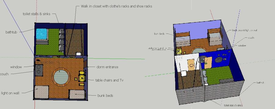 LCA Dorm Room Layout by goddessofthemoon1 on DeviantArt ~ 131053_Dorm Room Design Layout