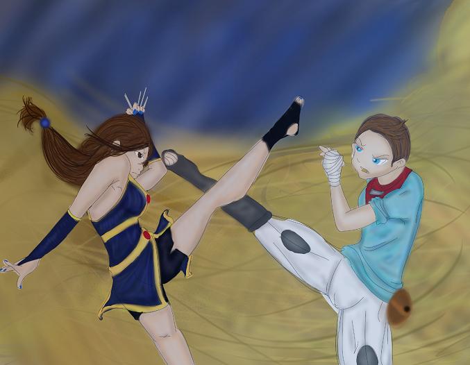 SS:  Saboten Vs Mizuki by goddess-of-the-moon1
