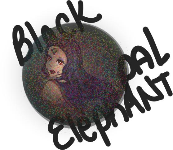 Black Opal Elephant by goddess-of-the-moon1