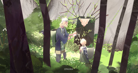 Father's Day: smol Irin and Dad