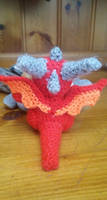 Sitting Dragon crochet 2