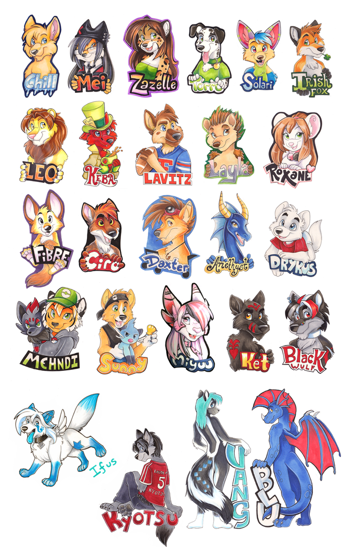 Badge Examples 2011 by Tigsie