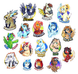 MLPFIM Bronycon 2014 Badges