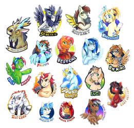 MLPFIM Bronycon 2014 Badges